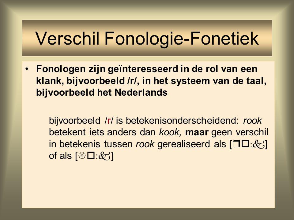 31 Fonologie taalvorm (syntaxis, morfologie, fonologie) De spraakketen taalvorm (syntaxis, morfologie, fonologie) boodschap spraakproduktiespraakgelui