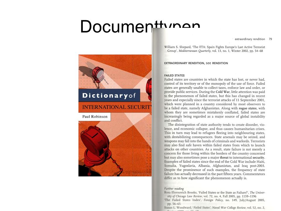 Documenttypen Encyclopedie