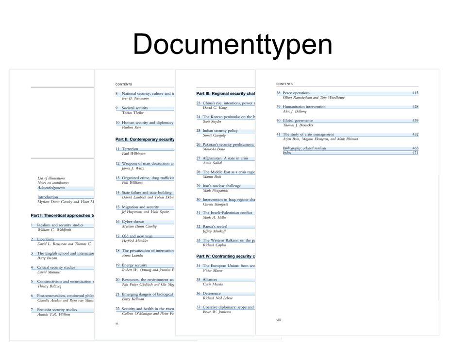 Documenttypen Handboek