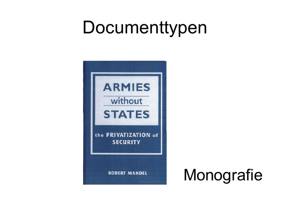 Documenttypen Monografie