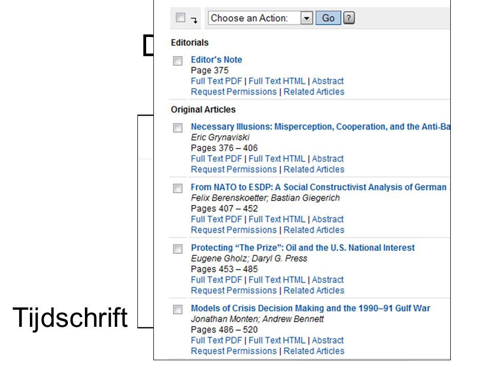Documenttypen Tijdschrift