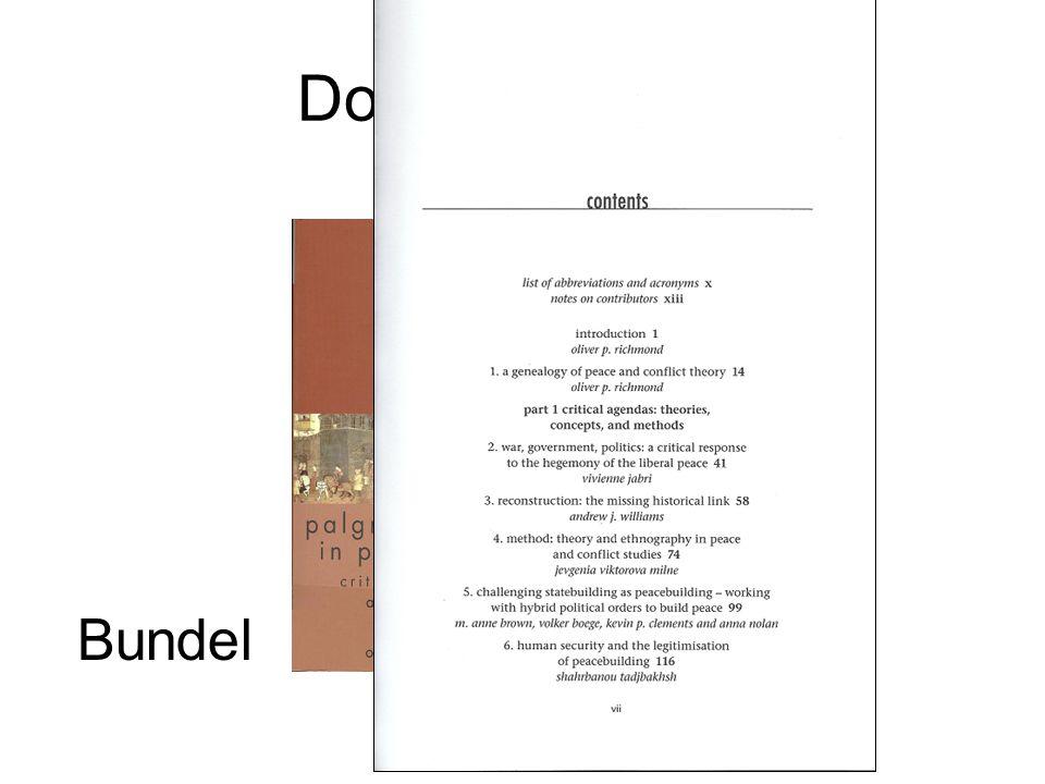 Documenttypen Bundel