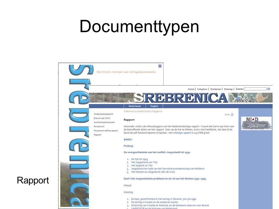 Documenttypen Rapport