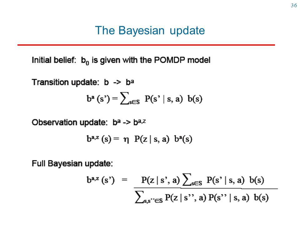 36 The Bayesian update