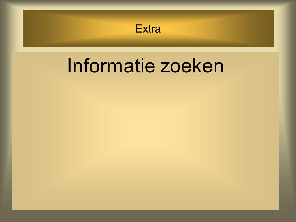 Extra Informatie zoeken