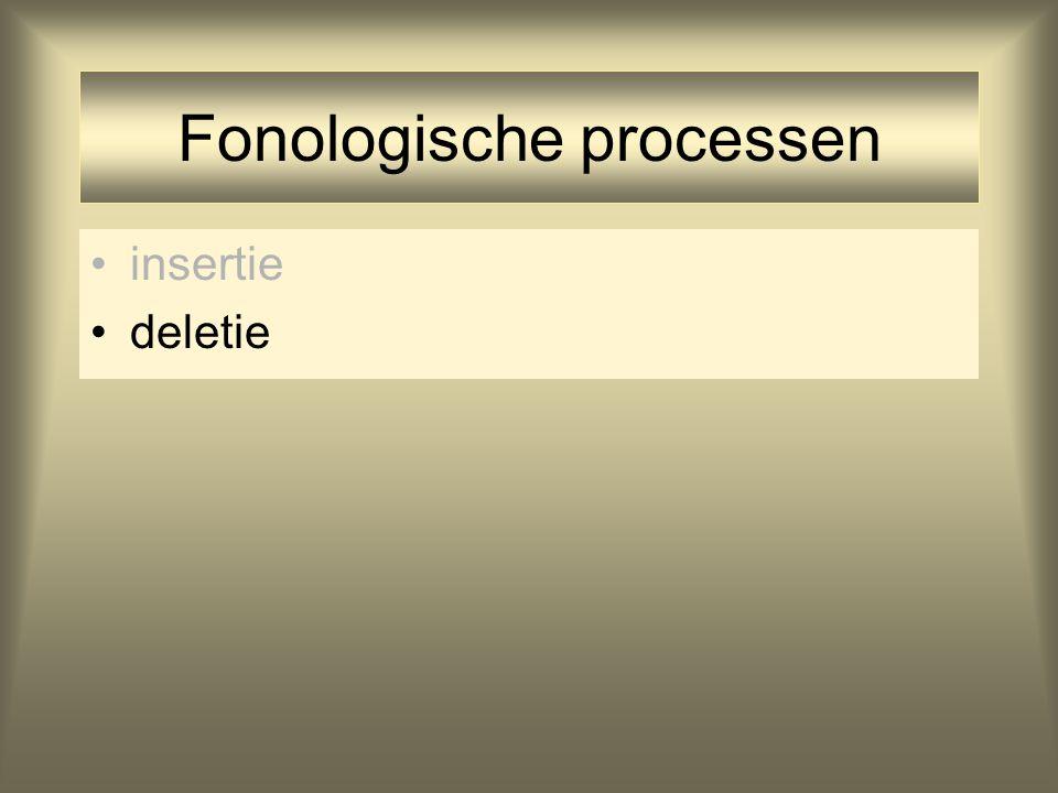 Fonologische processen insertie deletie