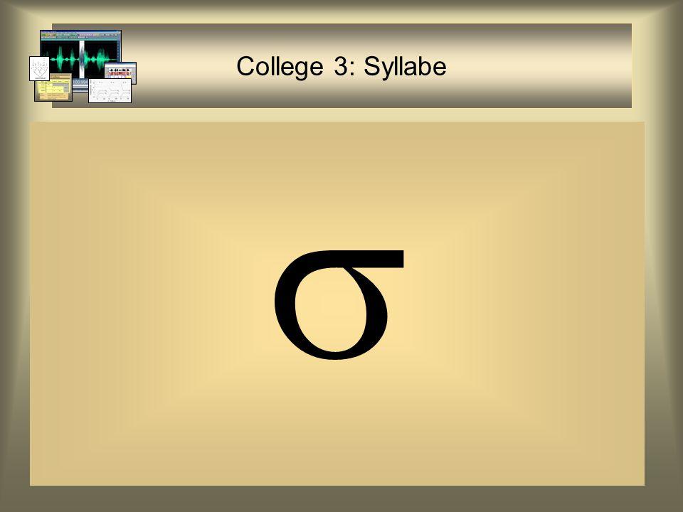 Waarom Syllabe in OT.
