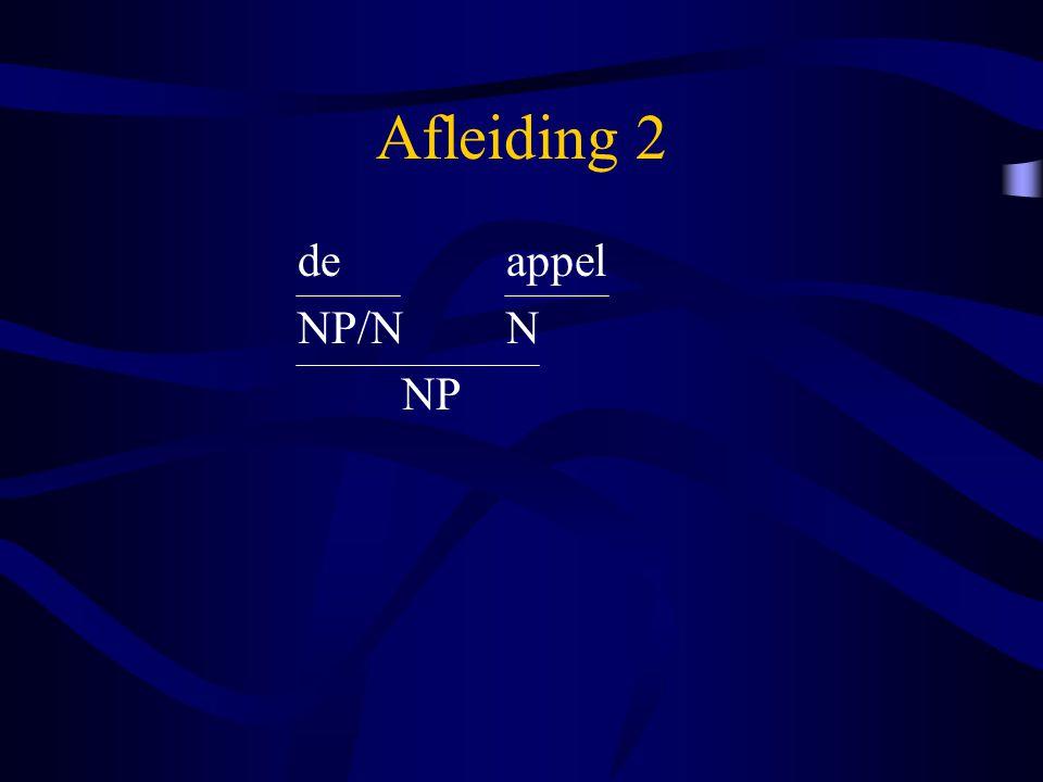 Afleiding 2 deappel NP/NN NP