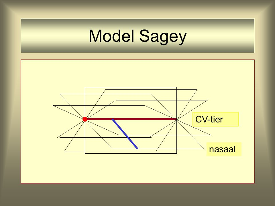 Model Sagey CV-tier