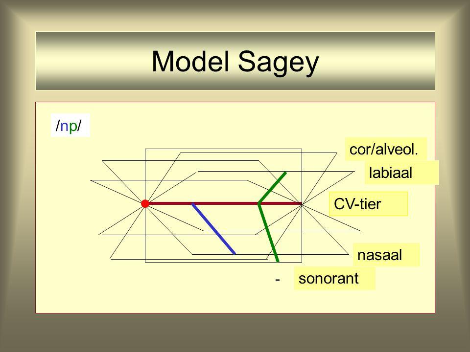 Model Sagey - CV-tier nasaal cor/alveol. labiaal sonorant /np//np/