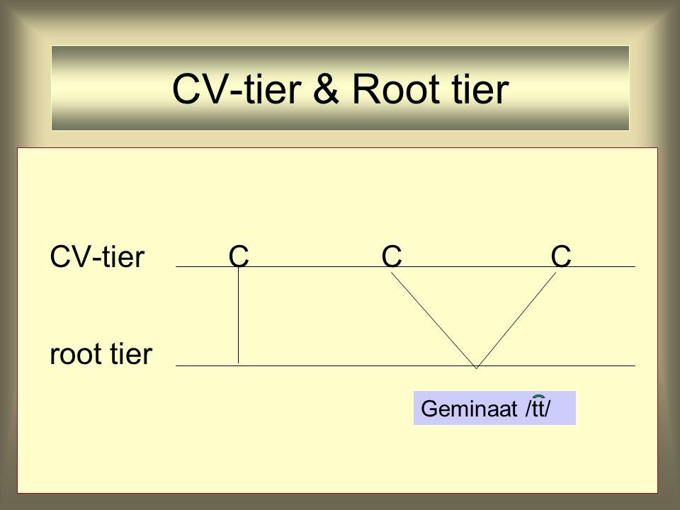 CV-tier & Root tier CV-tierC root tier