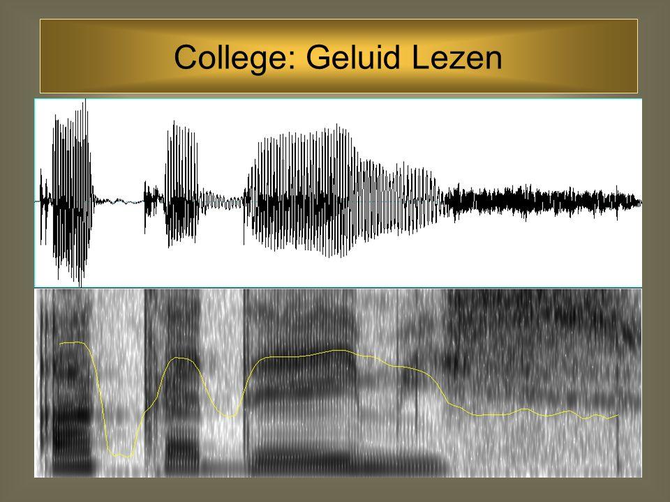 71 Formanttransities Frequentie Richting van transities: afhankelijk van de combinatie van consonanten en vocalen het punt waarnaar de F2-transitie wijst is de locus-frequentie van de consonant Locusfrequenties: labiaal: 700 Hz alveolair: 1700 Hz velair:2700 Hz Formanten: consonanten