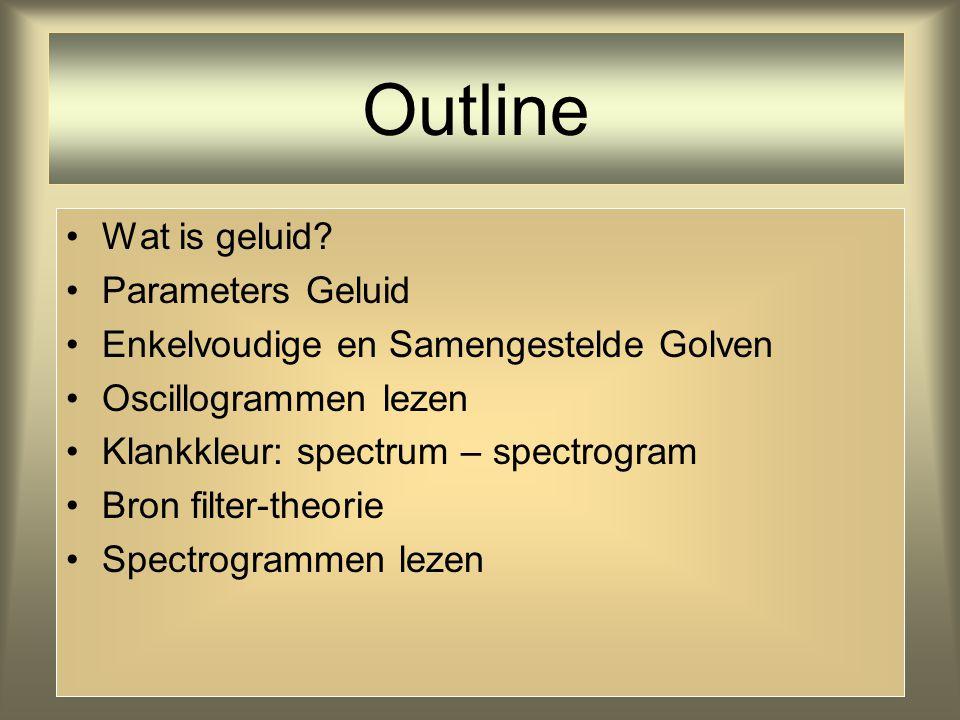2 Outline Wat is geluid.