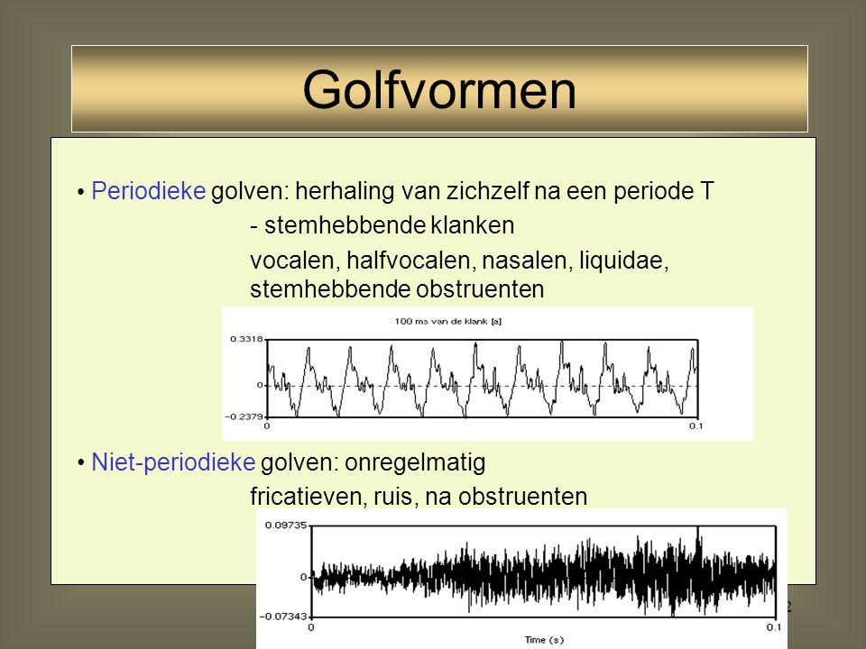 21 Geluid Infrasoon Geluidultrasoon F 20 kHz puls stationair geluid enkelvoudige toonsamengestelde trillingen samengestelde toonruis (bevat grondtoon