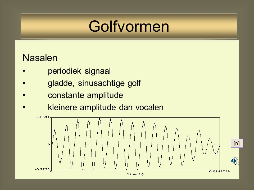 29 Stemhebbende fricatief: ruis op een periodiek signaal [z] Golfvormen