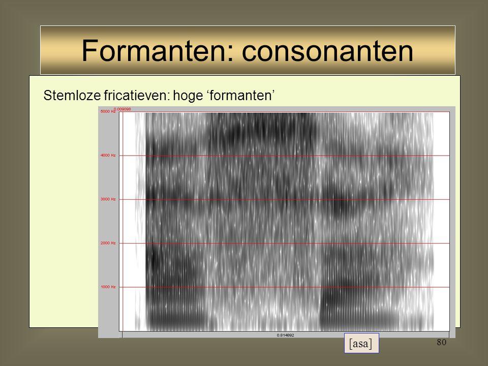79 Formanten: consonanten
