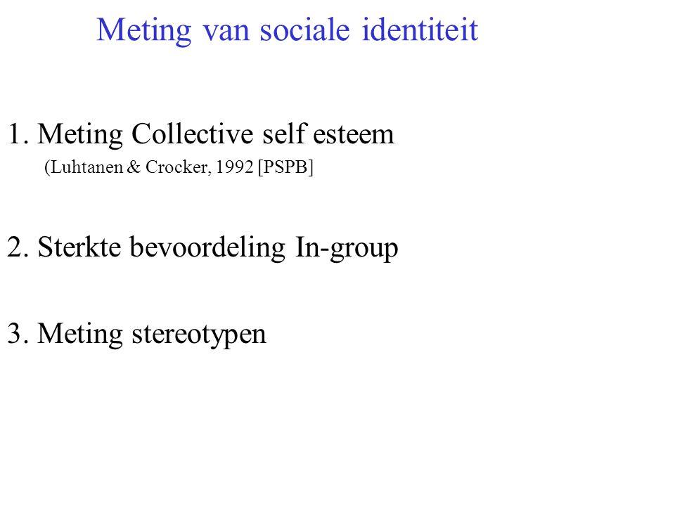 Manieren om intergroepsconflict op te lossen 1. Contact hypothese werkt alleen als: Cooperatieve situatie Gelijke status Persoonlijke interactie Posit