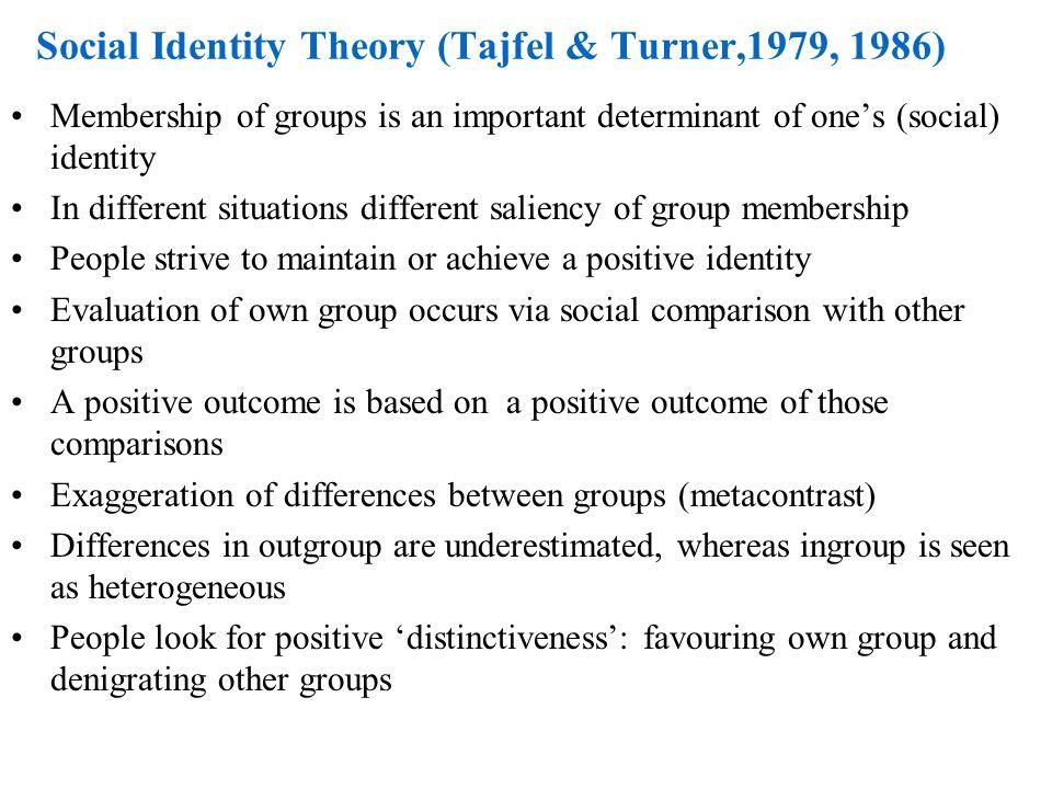 Individuele versus groeps-identiteit Model 1: Individueel Sociaal Model 2: Individueel Sociaal