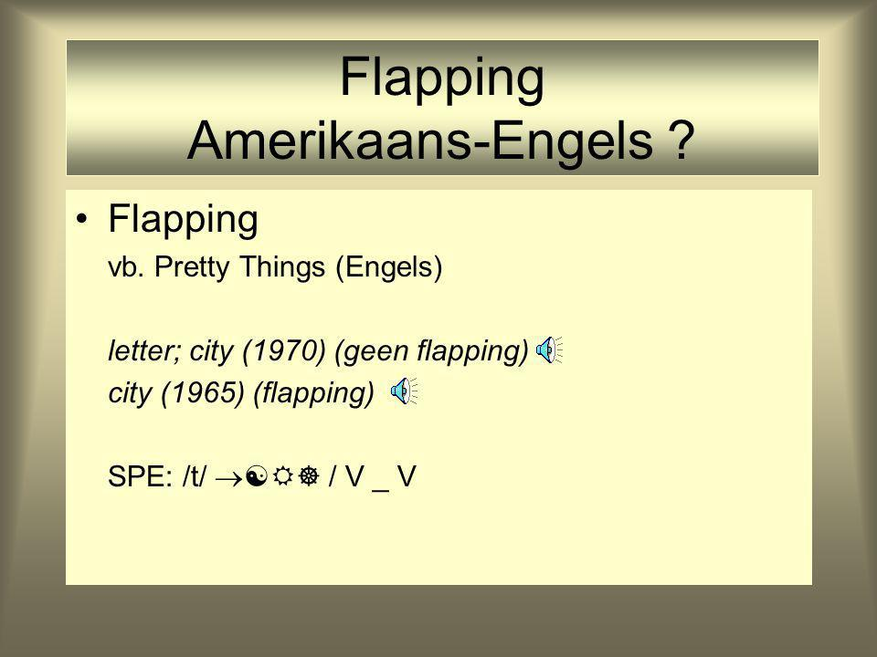 Flapping Amerikaans-Engels . Flapping vb.