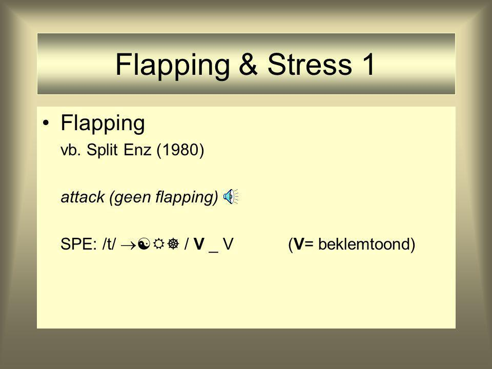 Flapping & Stress 1 Flapping vb.