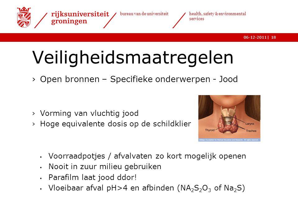 | bureau van de universiteit health, safety & environmental services 06-12-201118 Veiligheidsmaatregelen ›Open bronnen – Specifieke onderwerpen - Jood