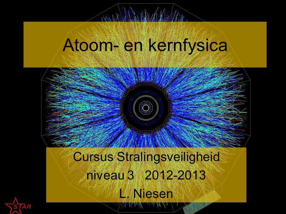 Atoom- en kernfysica Cursus Stralingsveiligheid niveau 3 2012-2013 L. Niesen