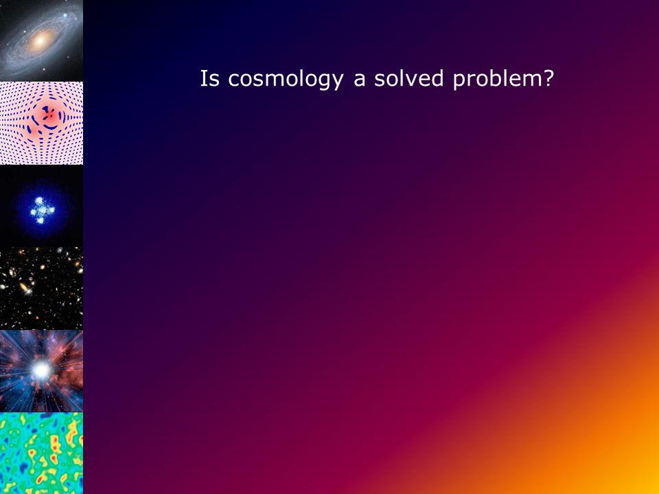 Bepaling van Ω DM met behulp van gravitatie lenzen gevormd door clusters Is cosmology a solved problem?