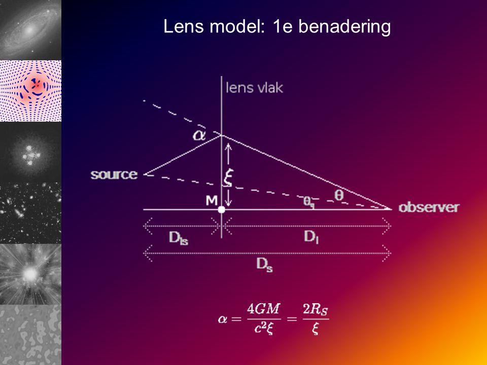 Lens model: 1e benadering
