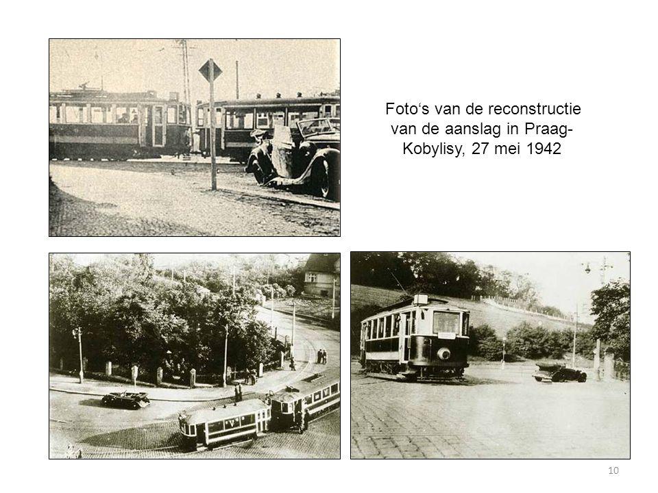 10 Foto's van de reconstructie van de aanslag in Praag- Kobylisy, 27 mei 1942