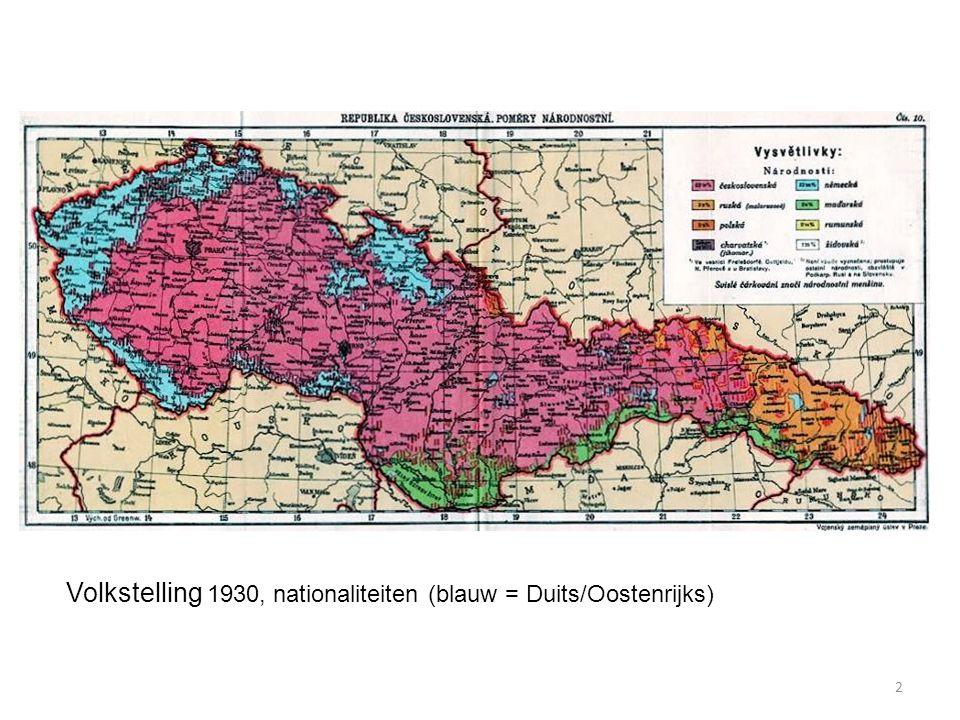 2 Volkstelling 1930, nationaliteiten (blauw = Duits/Oostenrijks)