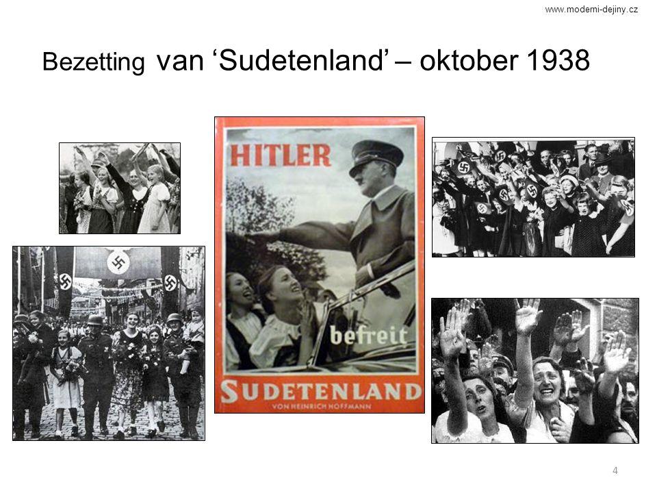 4 Bezetting van 'Sudetenland' – oktober 1938 www.moderni-dejiny.cz