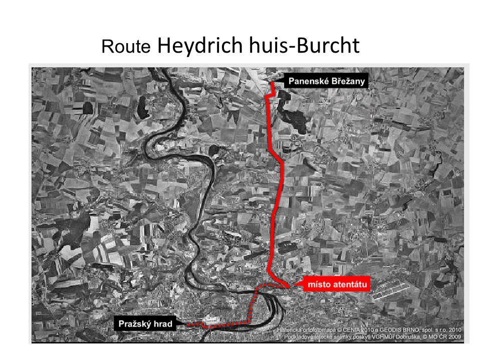 Route Heydrich huis-Burcht