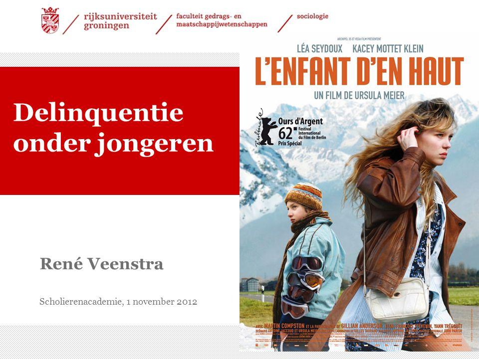 26-7-2014 | 1 René Veenstra Scholierenacademie, 1 november 2012 Delinquentie onder jongeren