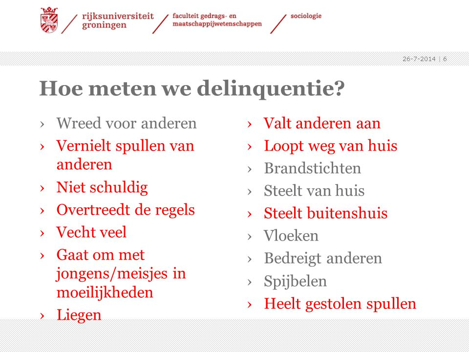 Hoe meten we delinquentie.