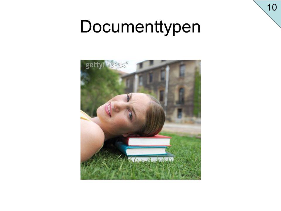 Documenttypen 10