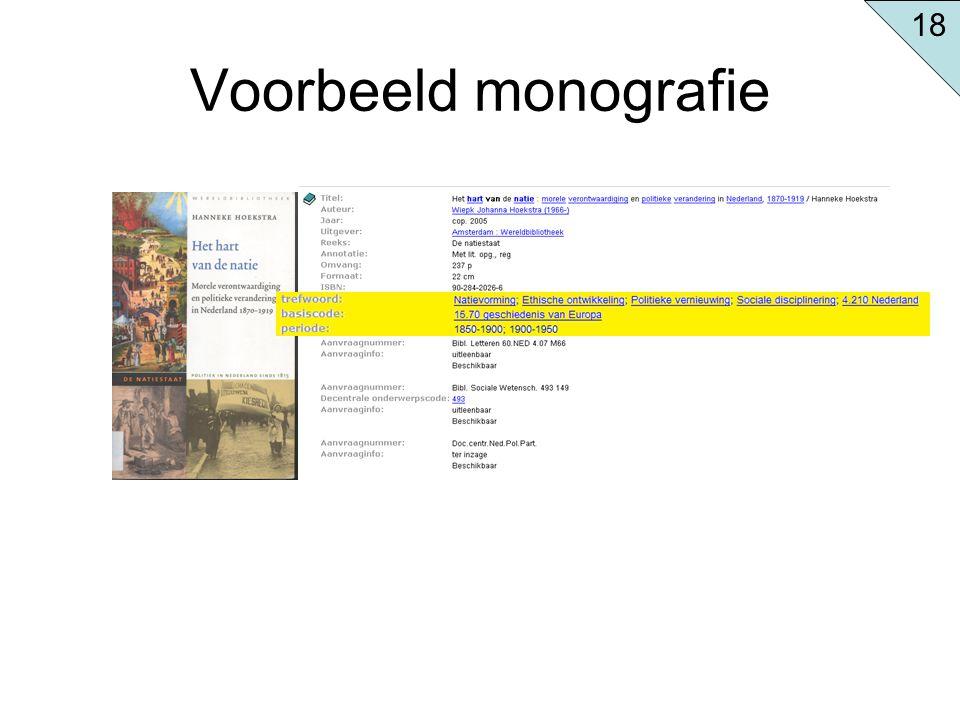 Voorbeeld monografie 18