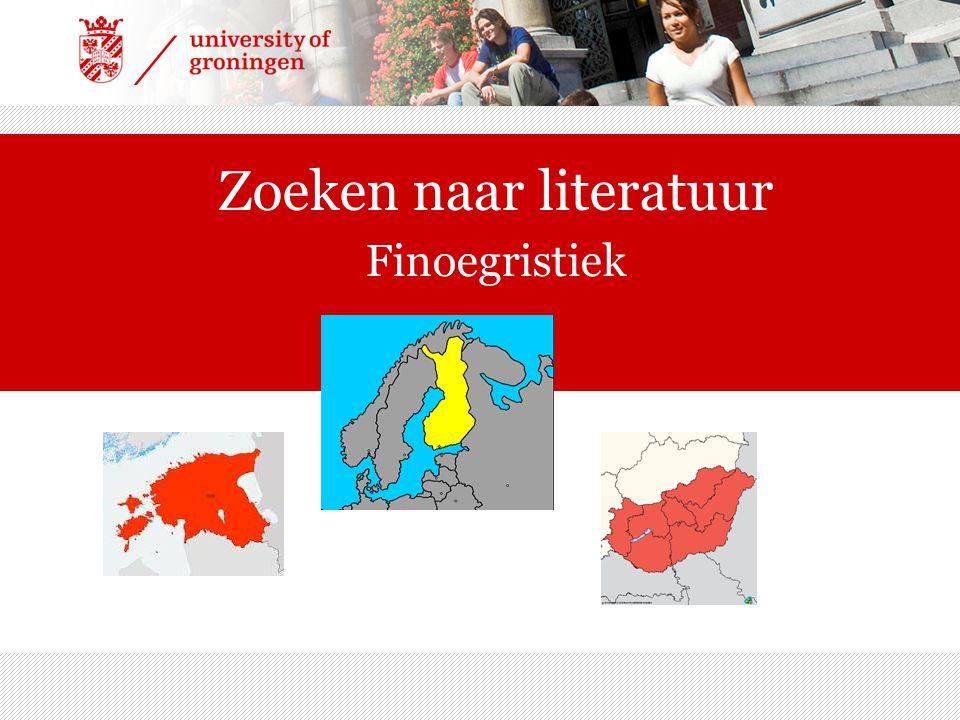 Zoeken naar literatuur Finoegristiek