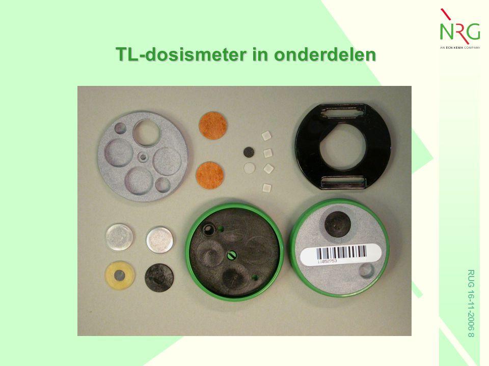 RUG 16-11-2006 19 Collectieve dosis per sector Dosis na correctie voor loodschort met 0.2 voor card.