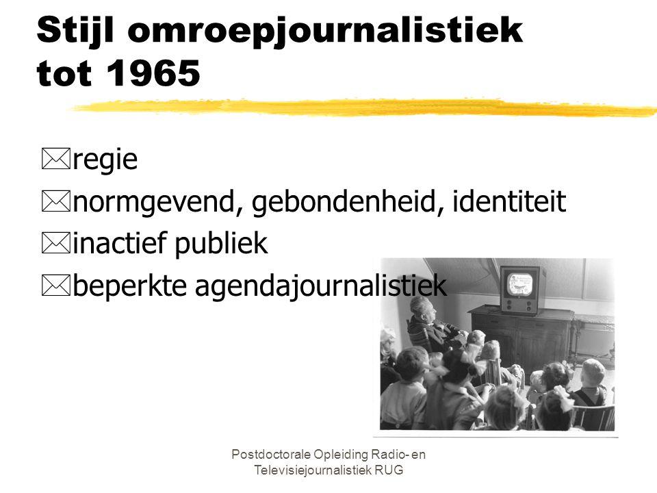 Postdoctorale Opleiding Radio- en Televisiejournalistiek RUG Radionieuws *Bulletins åVaz Dias (1925-1934) åANP (1934) åBerichtendienst NO en Radio Ora
