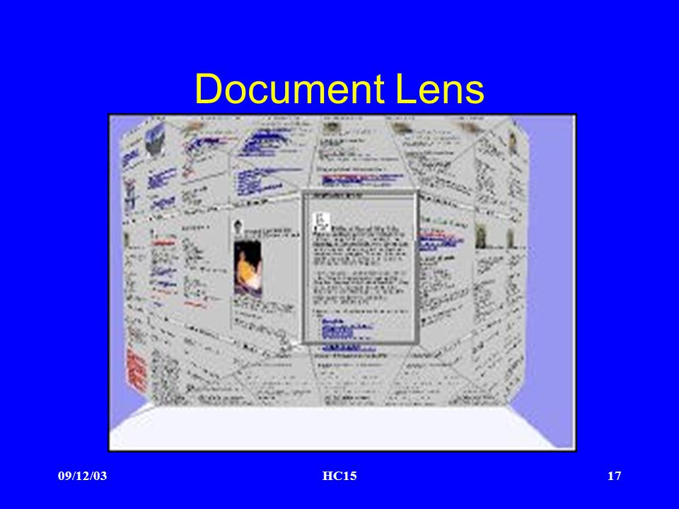09/12/03HC1517 Document Lens
