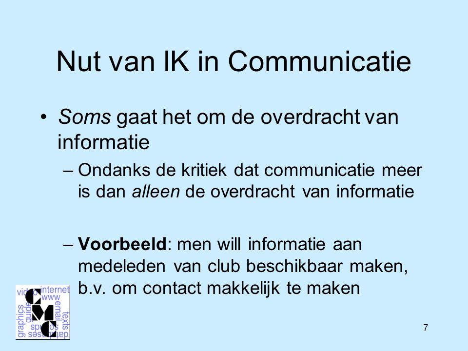 28 Taaltechnologie Fokus binnen IK in Groningen Ook aanwezig in CIW (Egg) Taalkundig geïnspireerd Veelbelovend potentiaal Toekomstgerichte aspect van CIW/IK