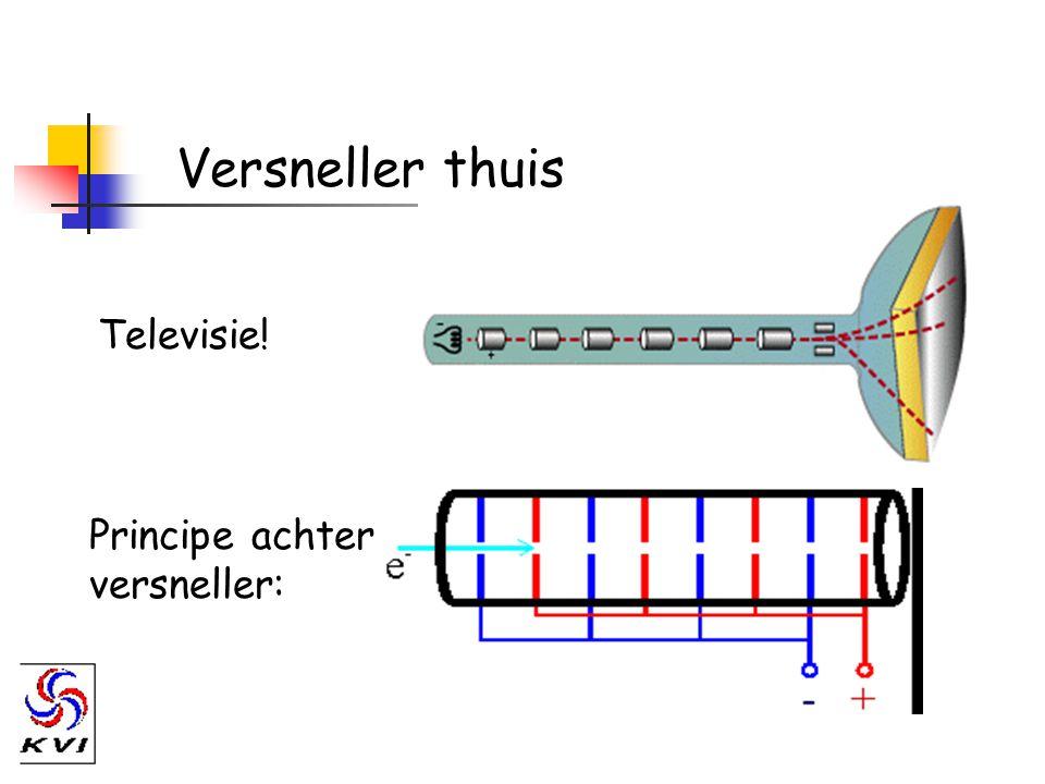Indirect gebruik van versnellers D + 14 N  15 O + n Aanmaak van radioactief materiaal: Deuterium versneller nodig.