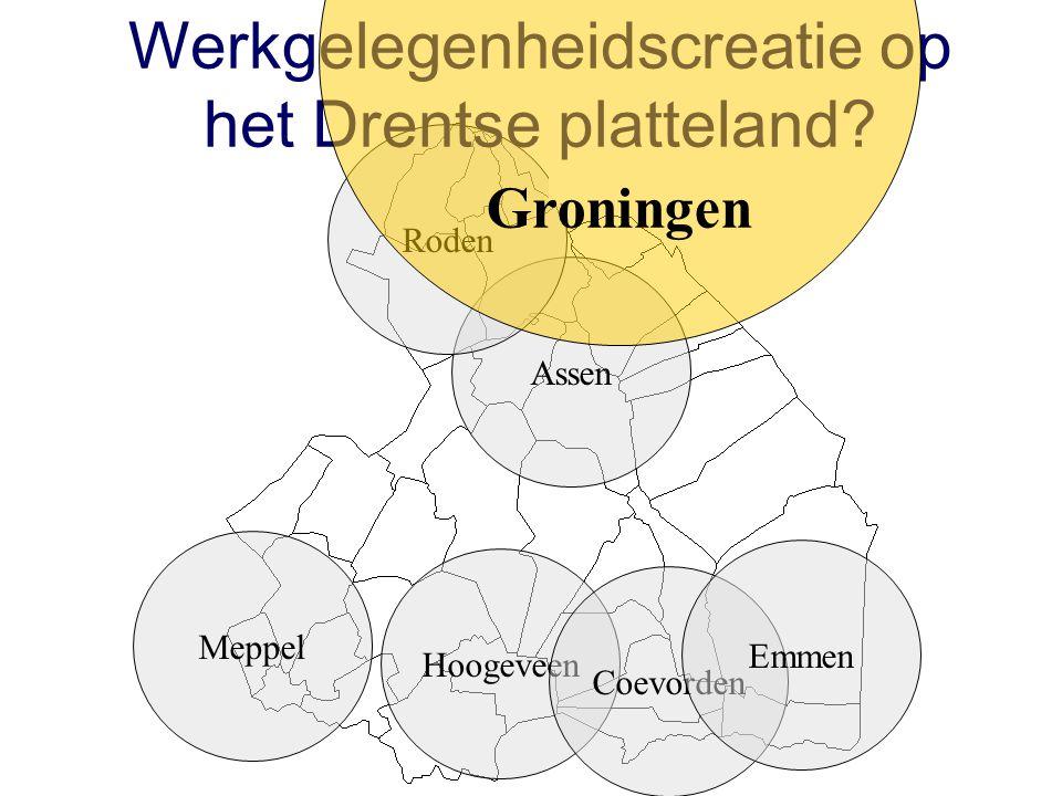 Assen Roden Hoogeveen Coevorden Emmen Meppel Werkgelegenheidscreatie op het Drentse platteland.