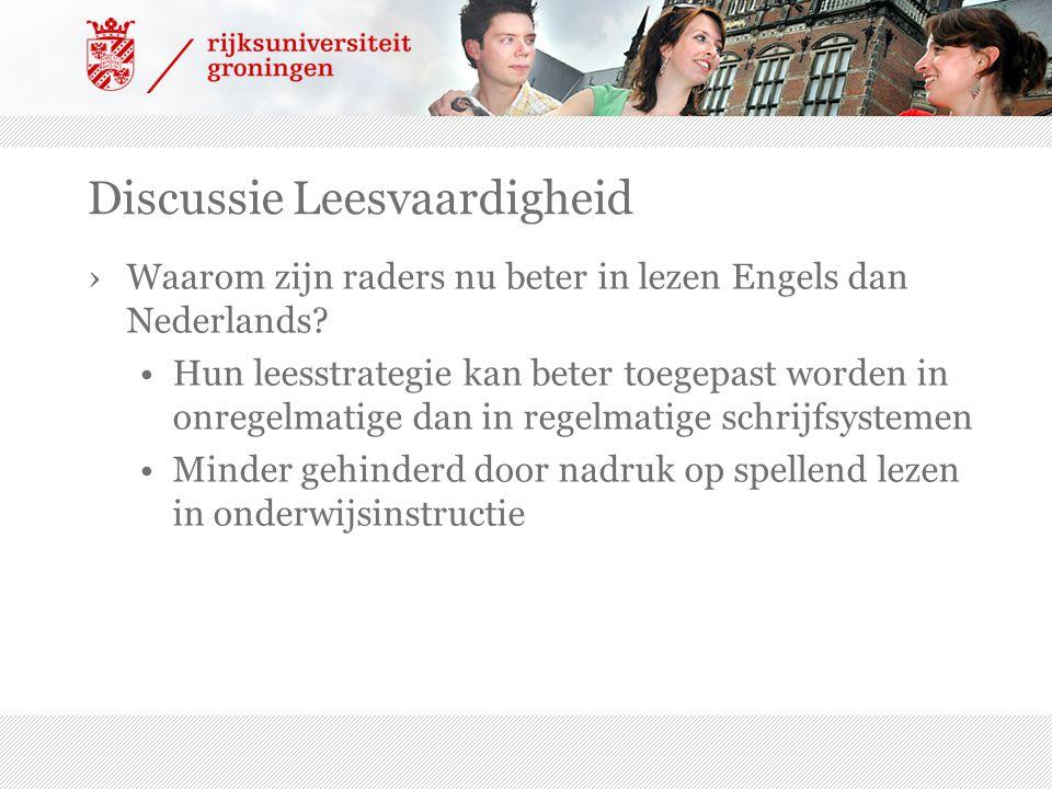 Discussie Leesvaardigheid ›Waarom zijn raders nu beter in lezen Engels dan Nederlands.