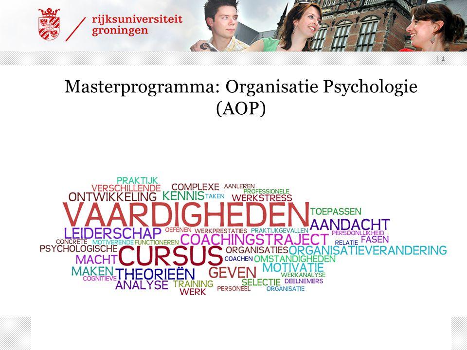 | 1 Masterprogramma: Organisatie Psychologie (AOP)