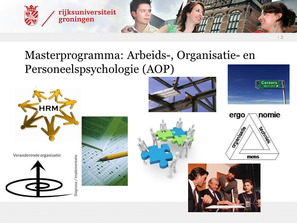 | 3 Masterprogramma: Arbeids-, Organisatie- en Personeelspsychologie (AOP)
