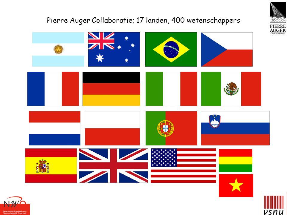 Pierre Auger Collaboratie; 17 landen, 400 wetenschappers