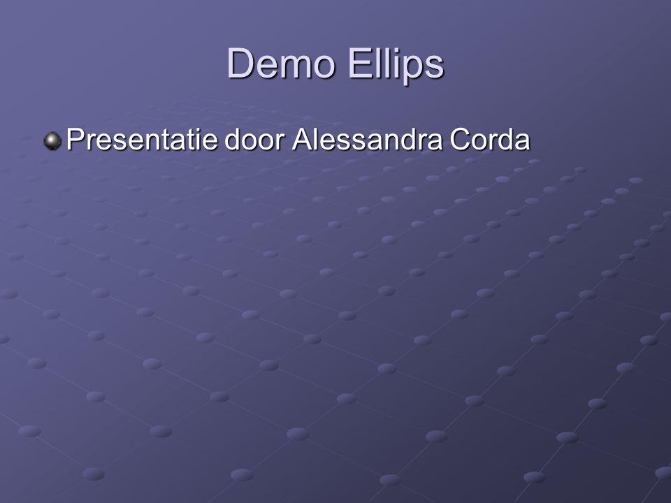Demo Ellips Presentatie door Alessandra Corda