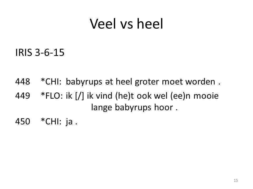 Veel vs heel IRIS 3-6-15 448*CHI:babyrups ət heel groter moet worden.