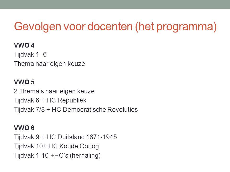 Gevolgen voor docenten (de inhoud) Een voorbeeld: De Historische Context Duitsland 1871 - 1945